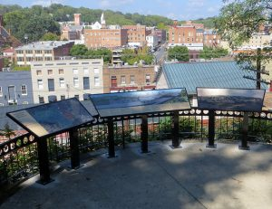 New overlook signs take in the view of downtown.